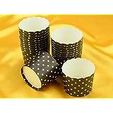 Cupcake Cup groß schwarz 20 Stück