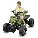 Let Young Racer Recreate the Exciting,Off-Road Action of the Film with Power Wheels Jurassic World Dino Racer-Green,With Parent-Controlled,High-Speed Lock Out and Power-Lock Brake System