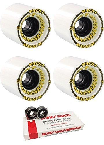 ディレクトリ手荷物シェルター78 mm Venom mach-1 Longboard Skateboard Wheels with Bones Bearings – 8 mm Bones Swiss Skateboard Bearings – 2アイテムのバンドル