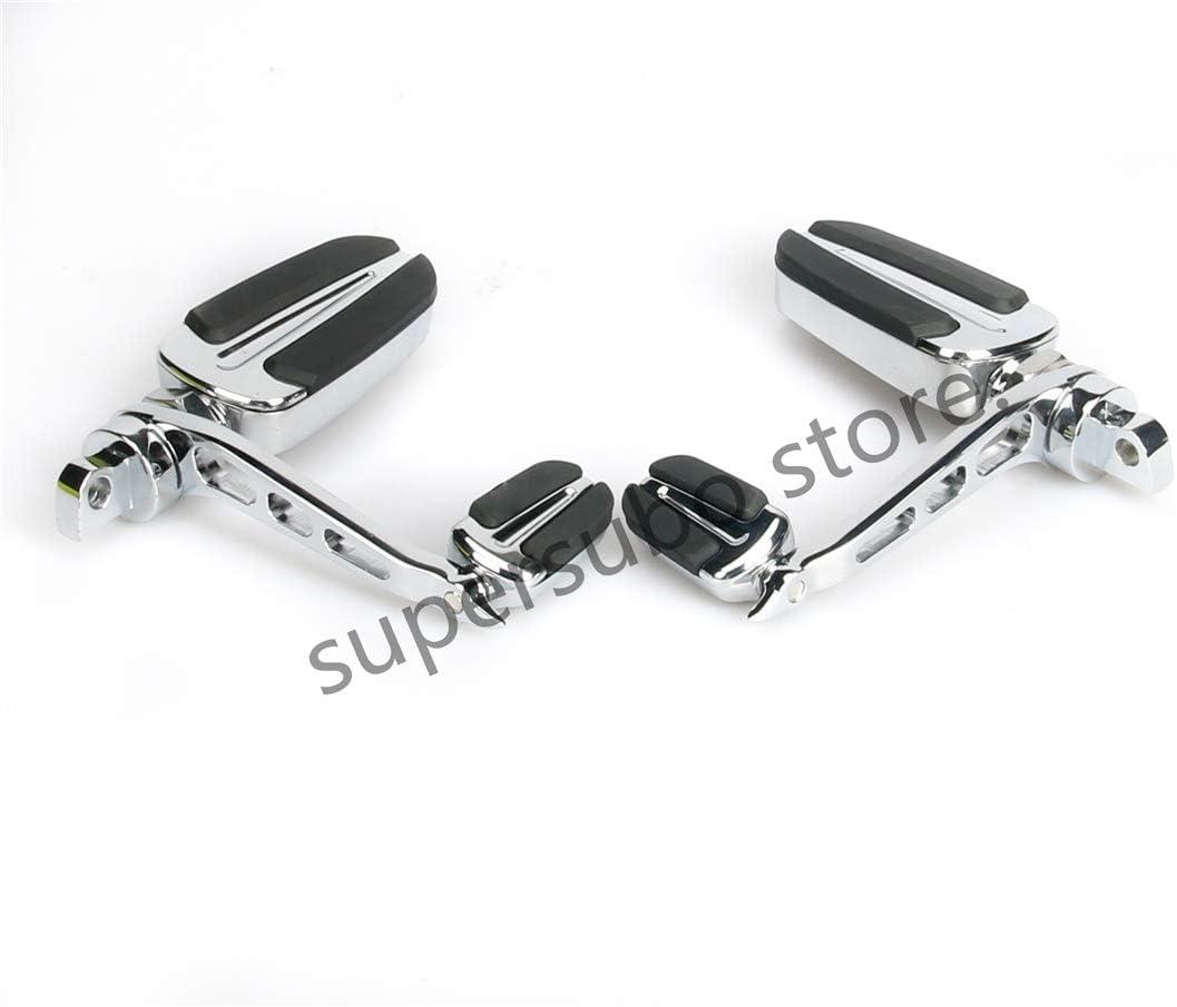 Slipstream FootPegs con clavijas de apoyo para el tal/ón para Harley Sportster Modelo FXWG FXST FXLG FXR