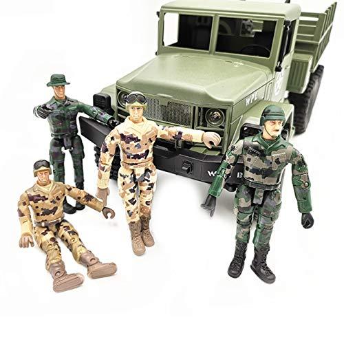 Hisoul 4 Pcs Action Figure Special Forces Soldiers Toy | Military Figures Playsets War Men SWAT Special Force for WPL RC Car Military Truck Ornamental Part (♥ A)