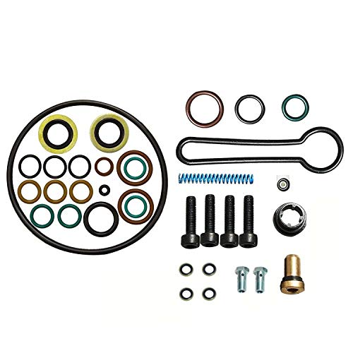 Kit Fuel Injection Update (yjracing Fuel Injector Rail Pressure Blue Spring Banjo Bolts Kit Fit for 03-07 Ford 6.0L Powerstroke)