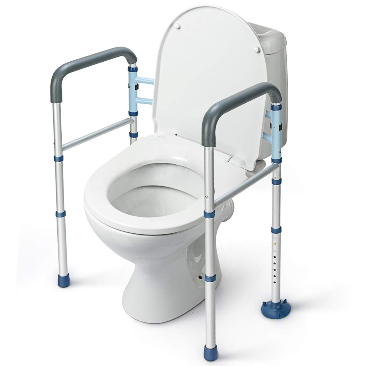 GreenChief Stand Alone Toilet Safety Rail with Free Grab Bar - Heavy Duty Toilet Safety Frame for Elderly, Handicap and Disabled - Adjustable Freestanding Toilet Handrails Helper, Fit Any Toilet  by GreenChief