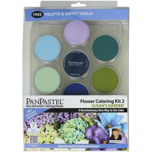 Colorfin No.2 PanPastel Ultra Soft Artist Pastel Flower Coloring Kit, 9ml, Susan's Garden, 7-Pack by Colorfin