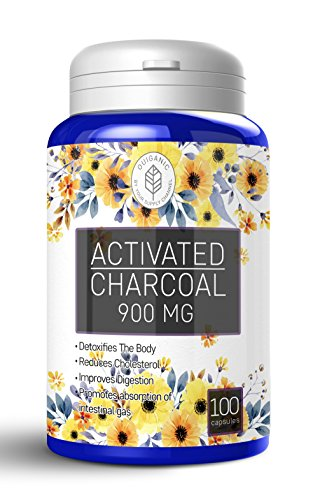 Activated Coconut Charcoal Capsules, 900mg, Pills, Food G...