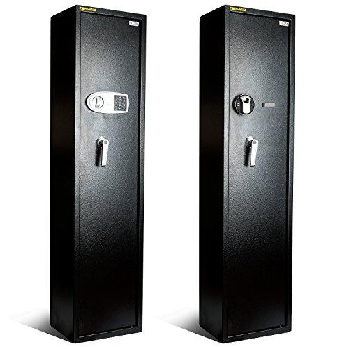 Wonlink Large Electronic Password Lock 5-Rifle Gun Safe Cabinet Digital Storage Metal (Password Lock)