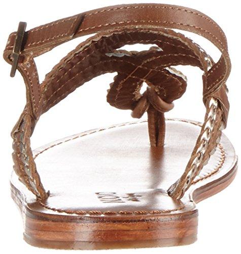 Inuovo 7704, Chanclas para Mujer Braun (Tan-Gold)