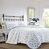 Laura Ashley Flora Quilt Set King Blue