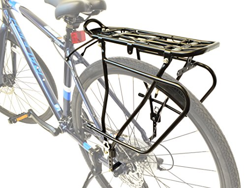 Lumintrail Bicycle Rear Frame Mounted Cargo Rack for Disc Bikes Height Adjustable Commuter Carrier by Lumintrail (Image #2)