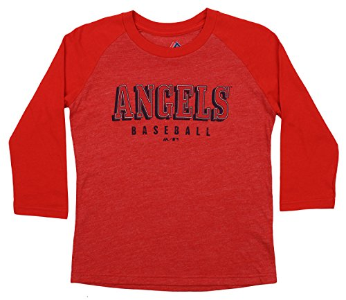 Outerstuff MLB Youth's Baseball Academy 3/4 Sleeve Raglan Tee, Los Angeles Angels Small (8)