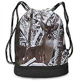 Unisex Bundle Backpack Whitetail Iowa Buck Deer Travel Durable Large Space Customized Waterproof