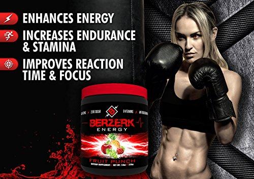 Berzerk Energy Drink Powder Mix Healthy Fruit Punch (30 Servings)
