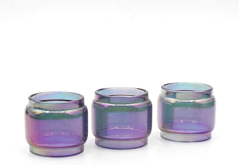 3pcs Rainbow vidrio grasa sustituta de tubo de ajuste for UFOrce T2 / ajuste for Geekvape creed RTA / ajuste for malla vandyvape / ajuste for Crown 3 min / ajuste for GeekVape Blitzen / ajuste for far
