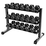 Yaheetech 3 Tier Horizontal Dumbbell Rack Multilevel Weight Storage Stand Organizer for Home Gym, Weight Capacity: 441 Lb Review