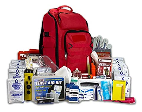 Complete Earthquake Bag for 2 people for 3 days - Most popular emergency kit for earthquakes, hurricanes, floods + other disasters (Emergency food, water, shelter, hand-crank phone - 3 Day Emergency Survival Kit