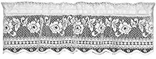 product image for Heritage Lace Victorian Rose 36-Inch Wide by 11-Inch Drop Insert Valance, Ecru