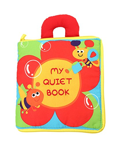 [12 pages Soft Cloth Baby Books Rustle Sound Infant Educational Stroller Rattle Toys (My Quiet Book)] (Car Costume Cardboard Box)