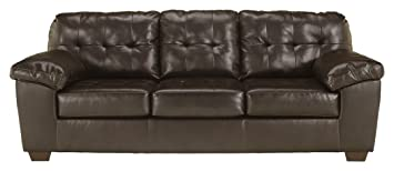 Ashley Furniture Signature Design - Alliston Contemporary Sleeper Sofa -  Queen Size Mattress Included - Chocolate