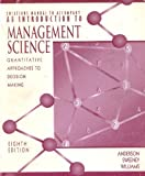 The Solutions Manual to Accompany an Introduction to Management Science, Anderson, David R. and Sweeney, Dennis J., 0314208003