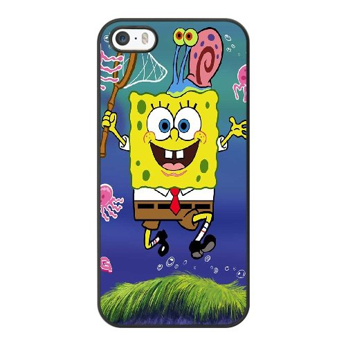 Coque,Coque iphone 5 5S SE Case Coque, Spongebob Bigpants Cover For Coque iphone 5 5S SE Cell Phone Case Cover Noir
