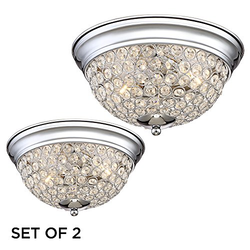Possini Euro Faith Chrome-Crystal Ceiling Lights Set of (Faith Design)