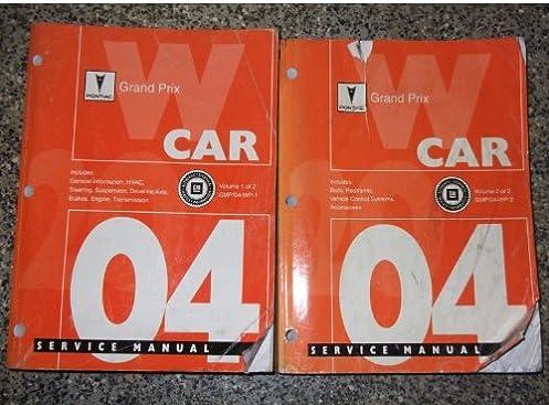 2004 pontiac grand prix service shop repair manual set 2 volume set rh amazon com 2004 pontiac grand prix repair manual free download 2004 pontiac grand prix gt repair manual