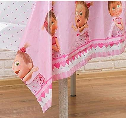 veselaja zateja Pink Tablecloths Masha and The Bear Polyethylene 70inch Birthday Party Favors Party Supplies