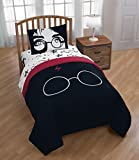 Warner Brothers Harry Potter Always 4 Piece Twin Bed Set - Includes Reversible Comforter & Sheet Set - Bedding Features Harry Poter - Super Soft Polyester - (Official Warner Brothers Product)
