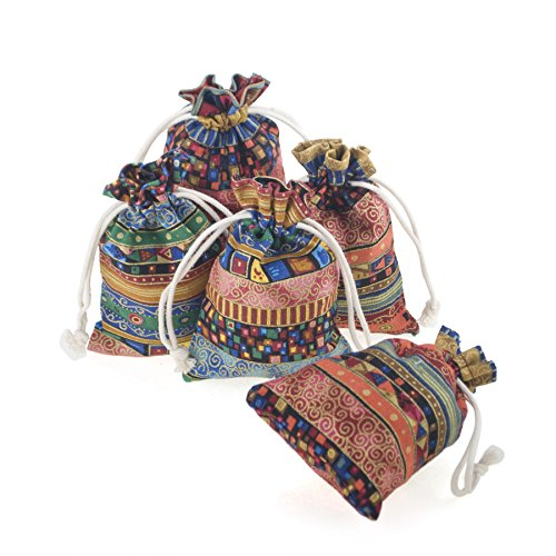 Aspire 24 PCS Egyptian Style Fashion Jewelry Pouch, Favor Bags, 3-3/4 x 5-1/4 Inch