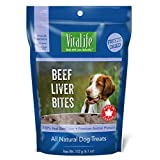 VitaLife Freeze Dried Dog Treats - All Natural, Freeze Dried Beef Liver Bites, 172 g