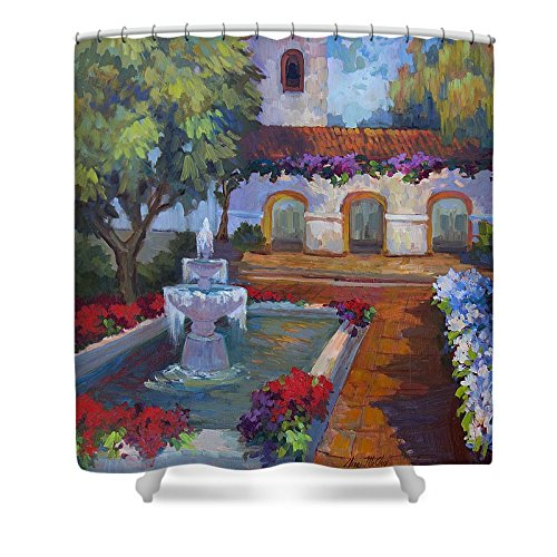 Pixels Shower Curtain (74'' x 71'') ''Mission Via Dolorosa'' by Pixels