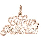 14K Rose Gold Cuban Princess Pendant Necklace - 17 mm