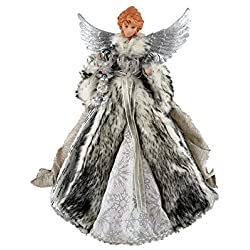 "Santa's Workshop 3048 Siberian Snow Angel Treetopper Figurine, 16"", Multi"