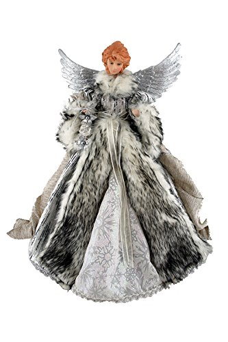 (Santa's Workshop 3048 Siberian Snow Angel Treetopper Figurine, 16