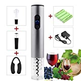 Electric Wine Bottle Opener Set with Rechargeable Battery, Vacuum Stopper, Foil Cutter, Wine Pourer By Wonpurs