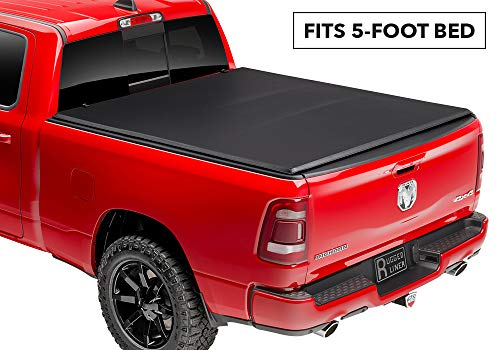 (Rugged Liner E-Series Soft Folding Truck Bed Tonneau Cover | E3-HRL05 | fits 05-16  Honda Ridgeline (use w/o bed extender), 5' bed)