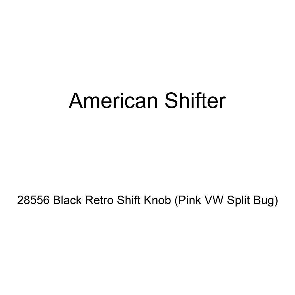 American Shifter 28556 Black Retro Shift Knob Pink VW Split Bug