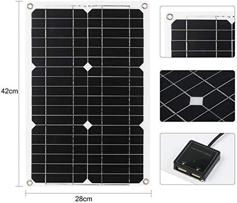 Tidyard 18-W-12-V-Solarpanel-Kit Monokristallines Off-Grid-Modul mit SAE-Verbindungskabelsätzen