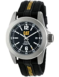 Mens YA14164131 Big Twist Stainless Steel Watch with Black Nylon Band