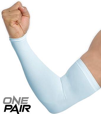 1 Pair Men Cool Arm Protective Sleeve Warmer Sun Protection Cycling Basketball