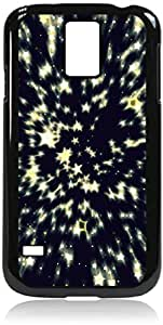 Starburst - Case for the Galaxy S5 i9600- Hard Black Plastic Snap On Case with Soft Black Rubber lining