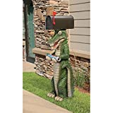 Design Toscano KY1888 Postal Gator Mail Post Sleeve Statue, 15″ Wx15 Dx43 H 22 lbs, Multicolor For Sale