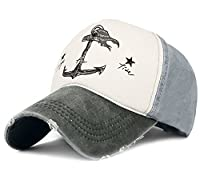 Glamorstar Pirate Ship Anchor Baseball Hat Multicolor Printing Adjustable Hip-Hop Cap