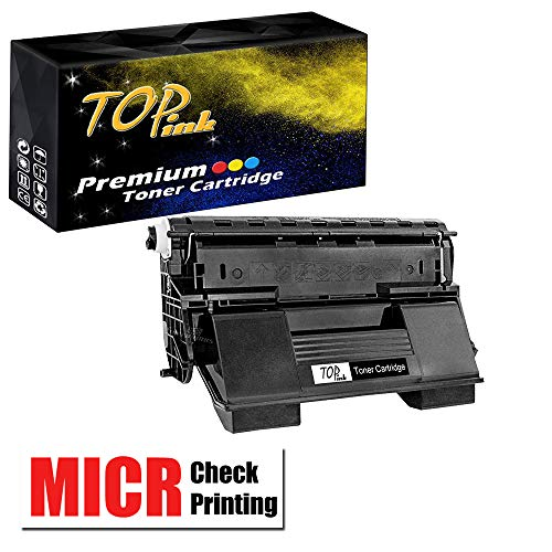 (TopInk Replacement for Xerox Phaser 4510DT MICR Toner Cartridge with MICR Check Printer-19,000 Pages)