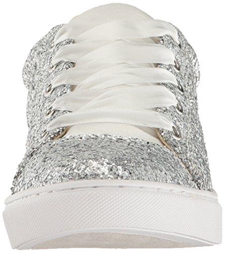 Bleu Par Betsey Johnson Femmes Sb-rae Mode Sneaker Argent Glitter