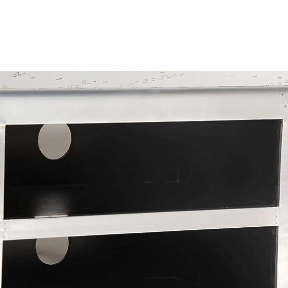 vidaXL Mueble para la TV Vintage Estilo Aviador 120x30x40cm Mobiliario Salón
