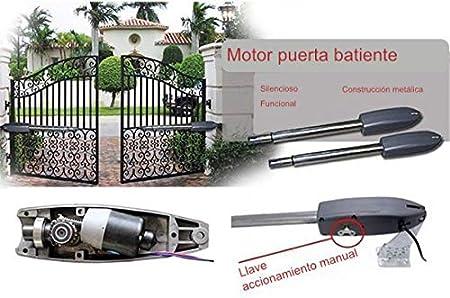 KIT MOTOR PUERTA BATIENTE 2 BRAZOS BATIENTES 300 KG ECONOMIC ...