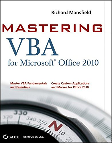 Mastering VBA for Office 2010 ISBN-13 9780470634004