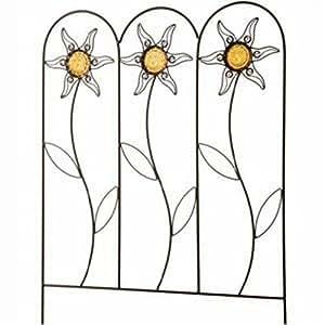 Siena Garden Sunstar - Reja para enredaderas con apliques de cristal