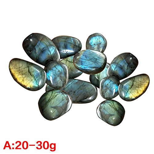 Heilsa Crystal Moonstone Kit, Natural Raw Stones for Decorate Bottle Aquarium Potted Plants Room and Bracelet & Spiral Pendant Necklace ()